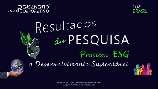 CAPA RESULTADO DA PESQUISA ESG